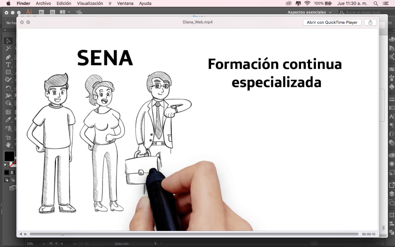 crear videos animados scribing, Video scribing o whiteboard SENA