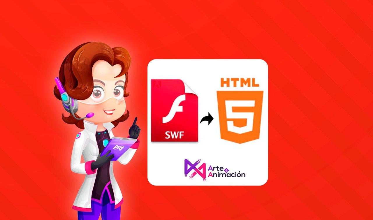 ¿Puedo actualizar mis cursos elearning de Flash (swf) a HTML5?